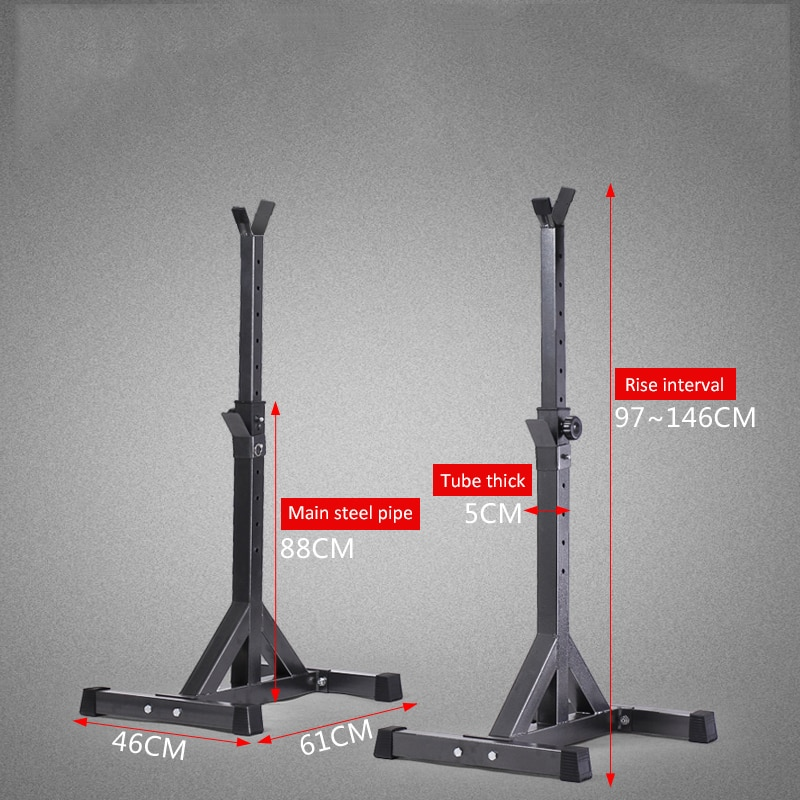 High-quality Adjustable Squat Stand Split Barbell Rack Barbell Squat Body Frame Weight Lifting Barbell Rack Fitness Equipments